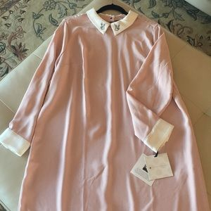 Victoria Beckham pink shift dress